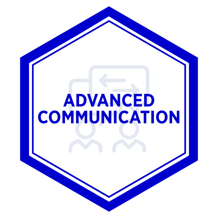 AIM Advanced Communication Digital Badge