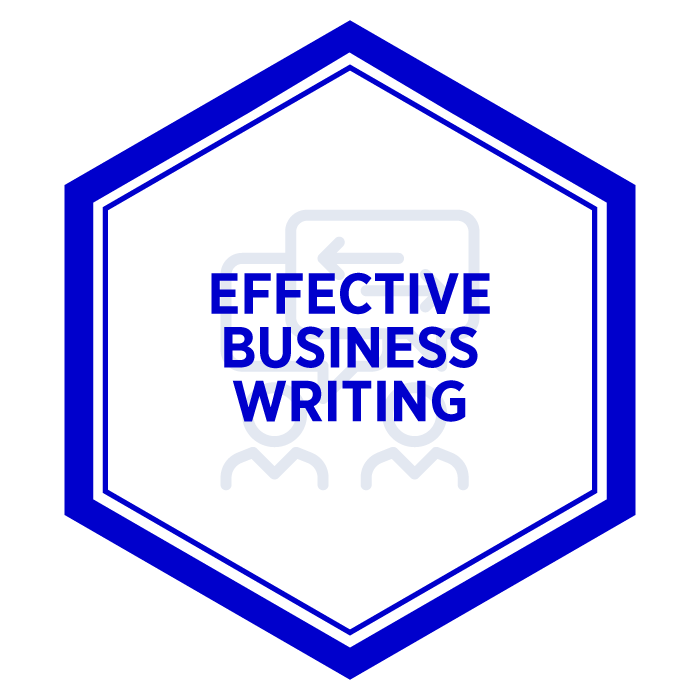 AIM Effective Business Writing Badge