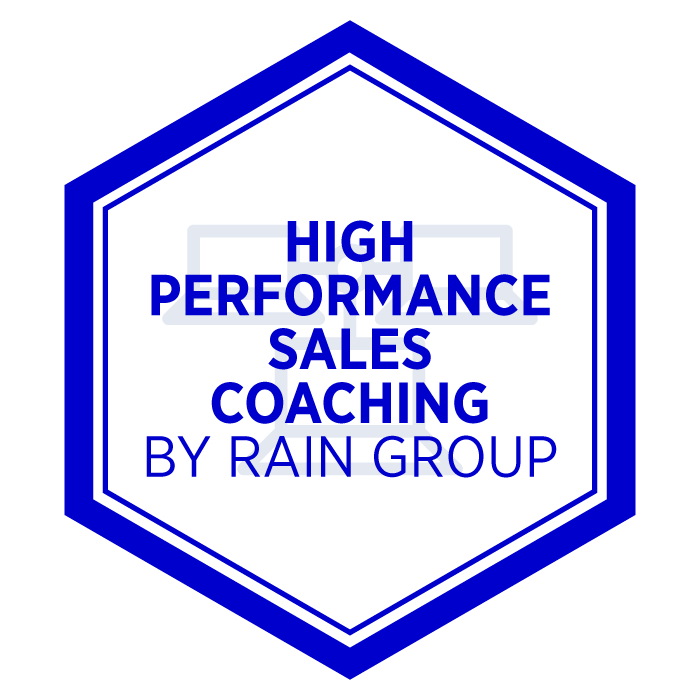 AIM High Performance Sales Coaching Badge