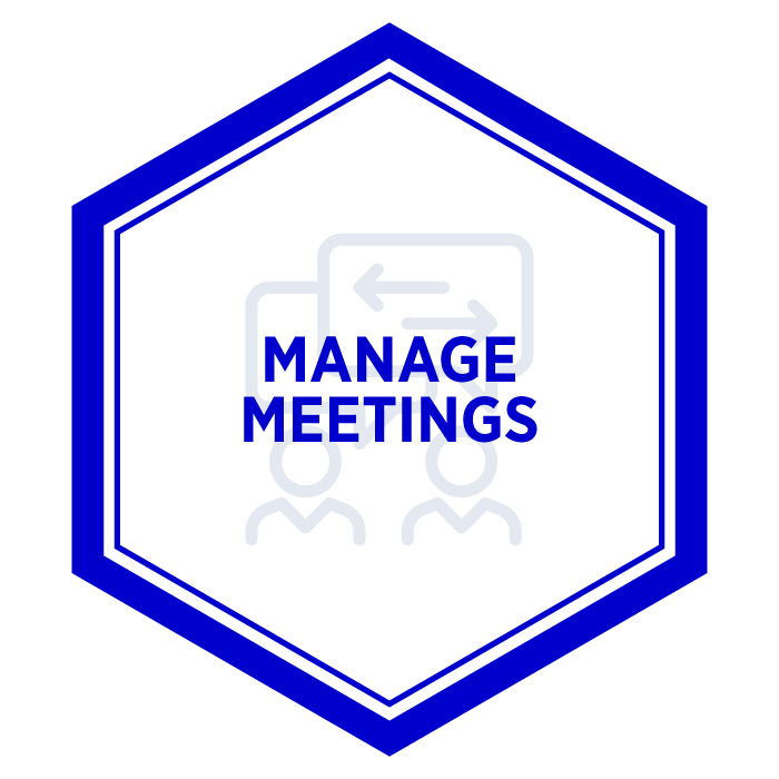 AIM Manage Meetings Badge