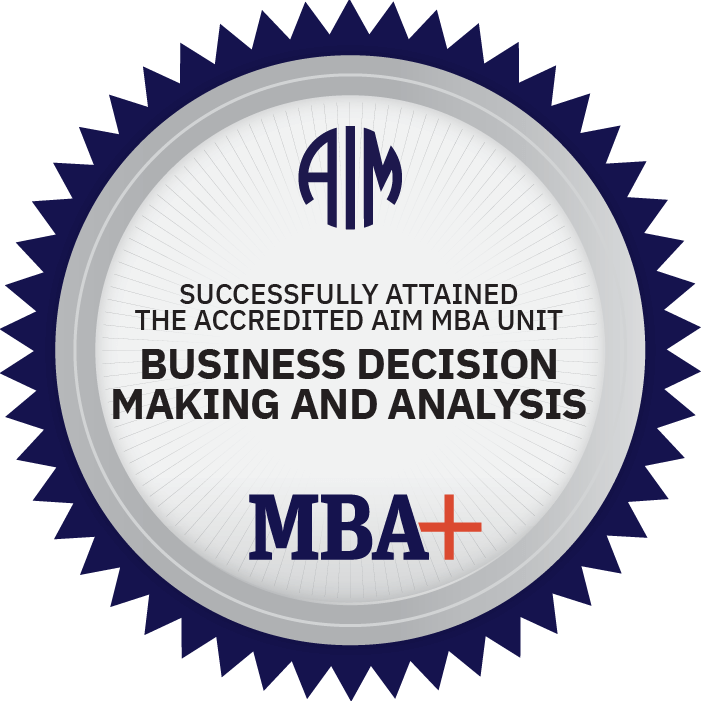 AIM Digital Badge Business Decision-Making and Analysis