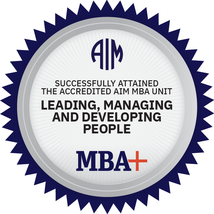 AIM Digital Badge Leading, Managing, and Developing People