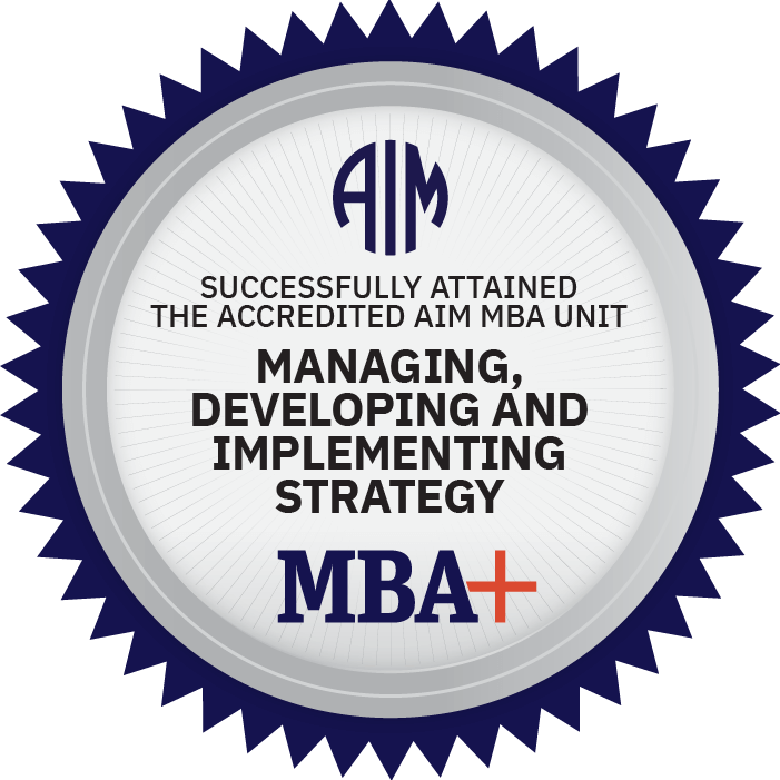 AIM Digital Badge Managing, Developing, and Implementing Strategy