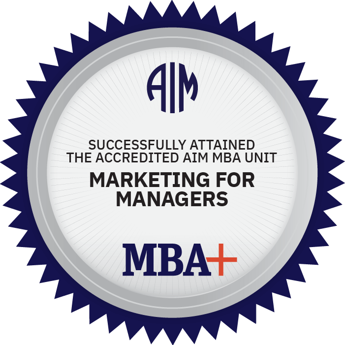 AIM Digital Badge Marketing for Managers