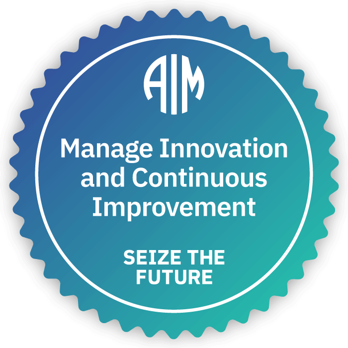 AIM Manage Innovation and Continuous Improvement Badge