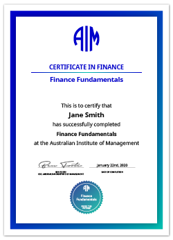 AIM Digital Certificate Finance Fundamentals