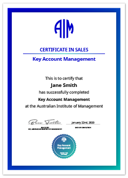 AIM Digital Certificates Key Account Management