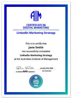 AIM Digital Credential LinkedIn Marketing Strategy
