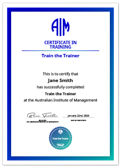 AIM Digital Certificate Train the Trainer