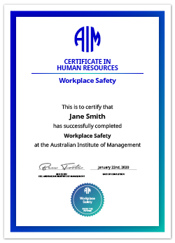 AIM Digital Certificate Workplace Safety