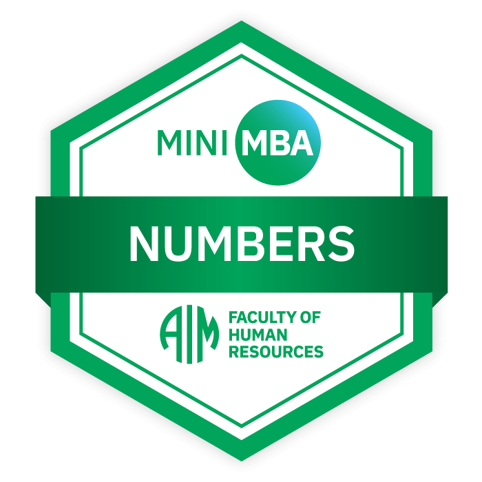 AIM Mini MBA Digital Badge - Numbers