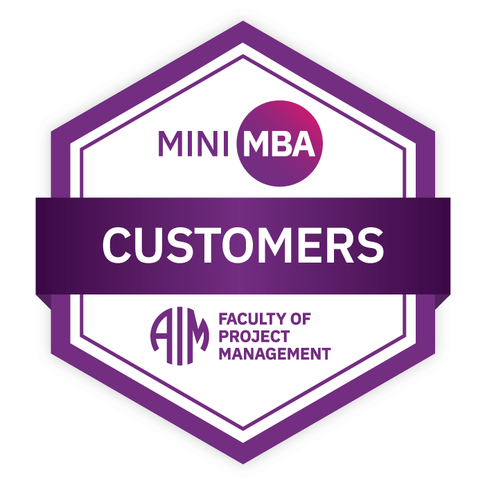 AIM Mini MBA Digital Badge - Customers